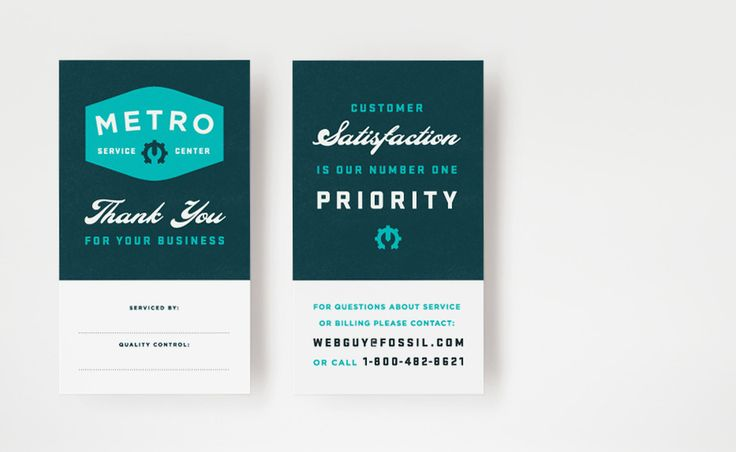 Identity for Metro Service Center (Fossil's watch repair division). Brent Couchman Design.