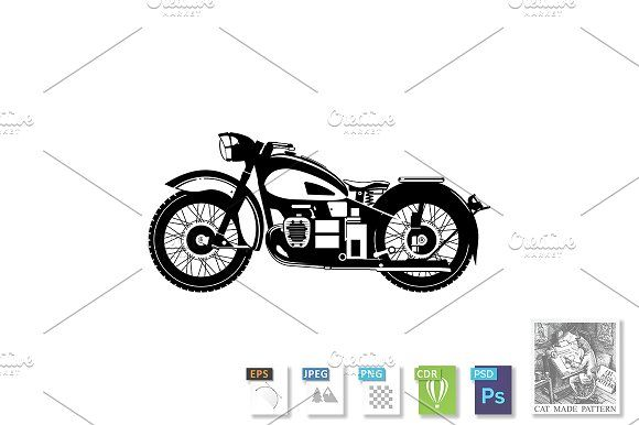 Motorcycle   by CatMadePattern on @creativemarket