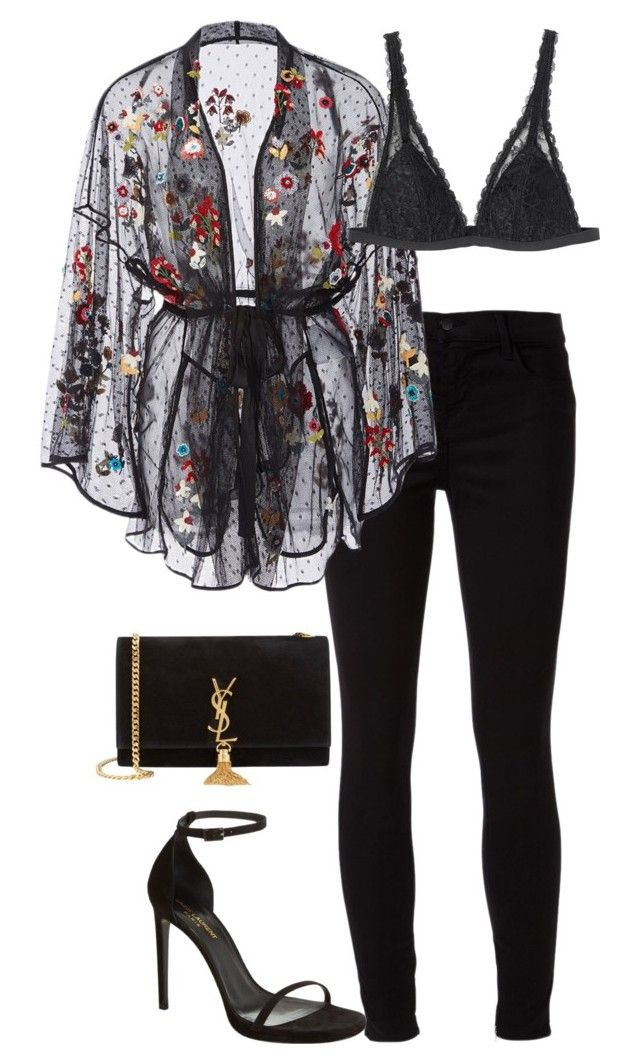 """""""Transparent I"""" by leengardini ❤ liked on Polyvore featuring J Brand, RED Valentino, Monki and Yves Saint Laurent"""