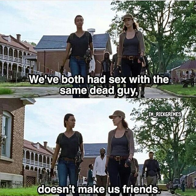 """Rosita needs to chill. The Walking Dead 7x09 """"Rock in the Road."""""""
