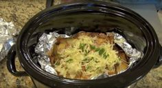 How to make cheesy bacon potatoes in a slow cooker
