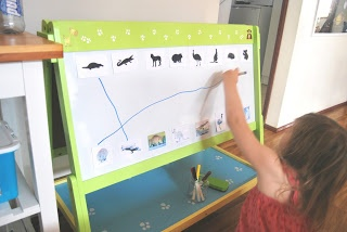 A Little Learning For Two: Australian Animals - Whiteboard Silhouette Matching
