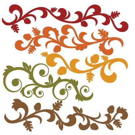 Fall Flourish Set SVG cutting file for scrapbooking autumn svg cut files free svgs cute cut files for cricut