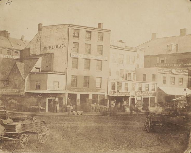 North Market in Boston mid 18002