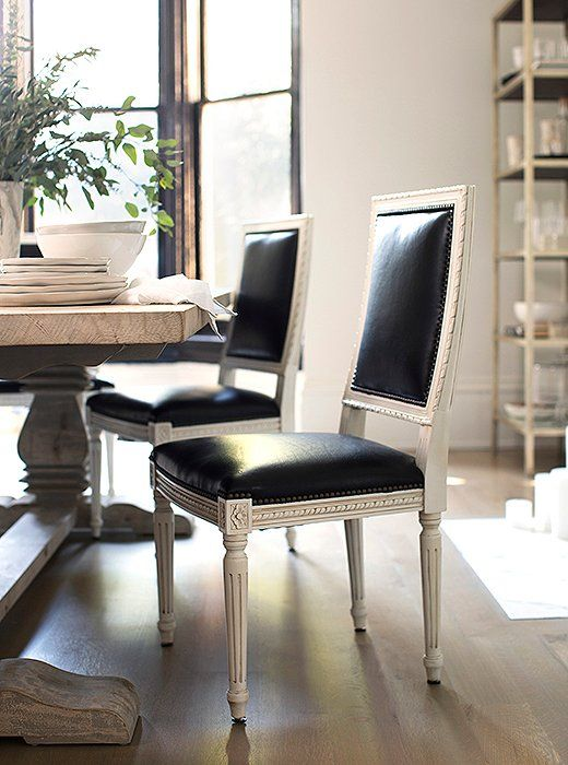 Best 25 Black leather dining chairs ideas on Pinterest  : 2204c692f58123c71958566fac2a3868 dining room makeovers french chairs from www.pinterest.com size 520 x 700 jpeg 64kB