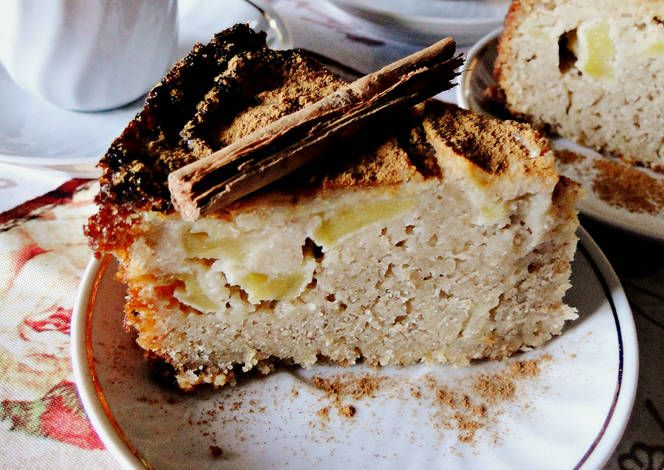 tarta manzana y canela con stevia
