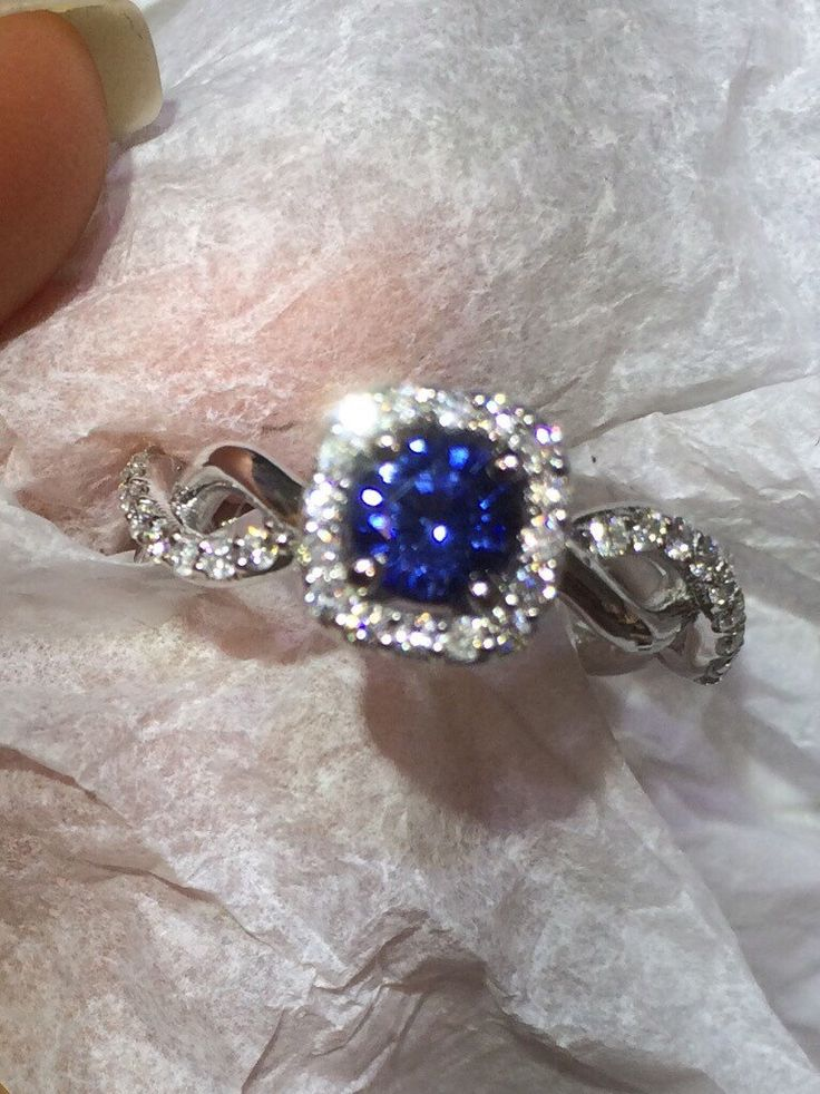 Engagement Ring, modern Diamond Bridal Wedding ring, Braided shank Engagement Ring with Natural Sapphire Stone, Wedding and Engagement ring by BridalRings on Etsy https://www.etsy.com/listing/245199406/engagement-ring-modern-diamond-bridal