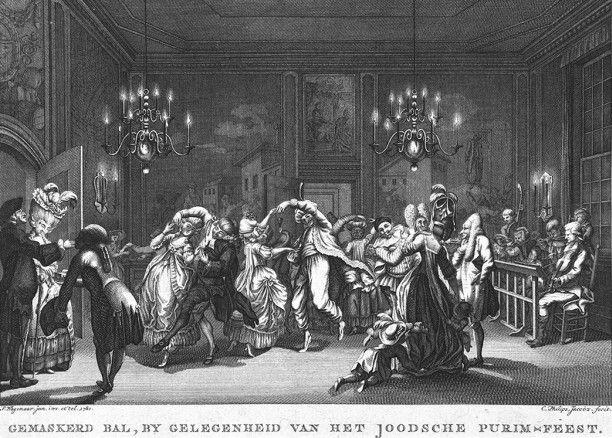 Gemaskerd Bal By Gelegenheid van het Joodsche Purim-feest, 1780 P. Wagenaar en Philips Jan Caspar.