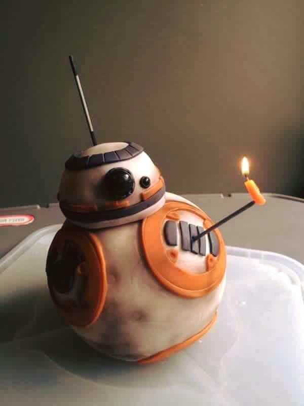 Brilliant BB-8 birthday cake