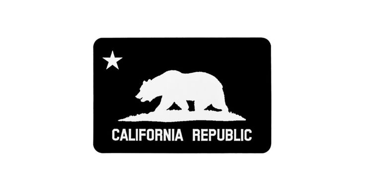 Vintage Distressed California Republic State Flag Premium Flexi Rectangle Magnet! A great small gift for Christmas and the Holidays! Looks awesome on the fridge!