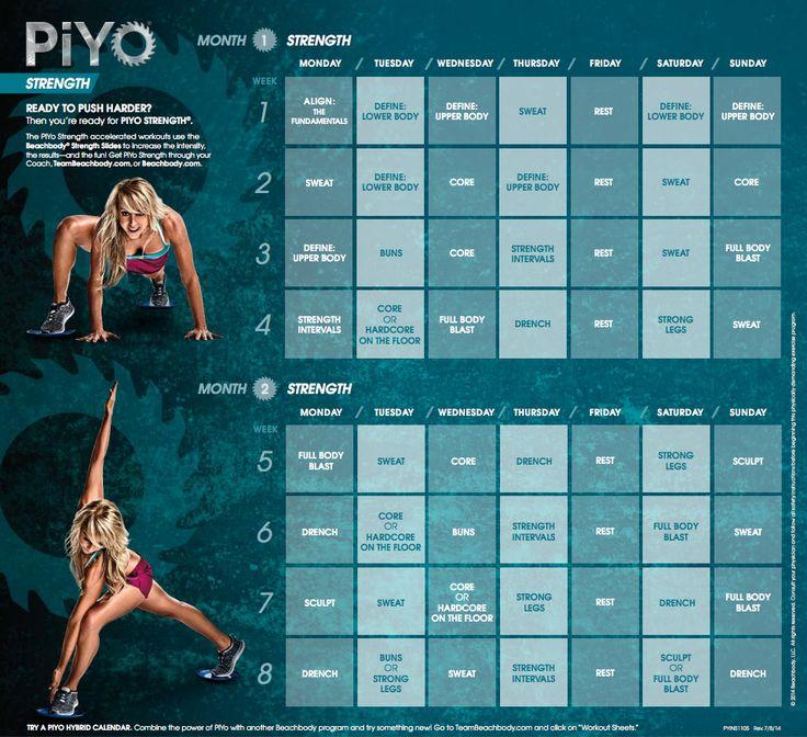 PIYO STRENGTH Workout Calendar