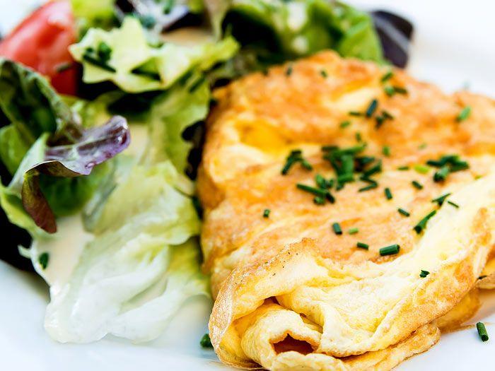 Een perfect gebakken omelet