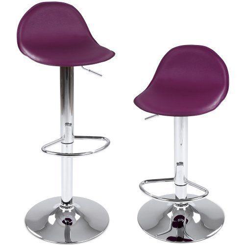 Miadomodo - LBHK11ll-2er - Juego de 2 taburetes de bar con reposapies y giratorios - Morado - Diferentes colores a elegir, http://www.amazon.es/dp/B00ICL78M2/ref=cm_sw_r_pi_awdl_1gJvvb0QSQ3JB