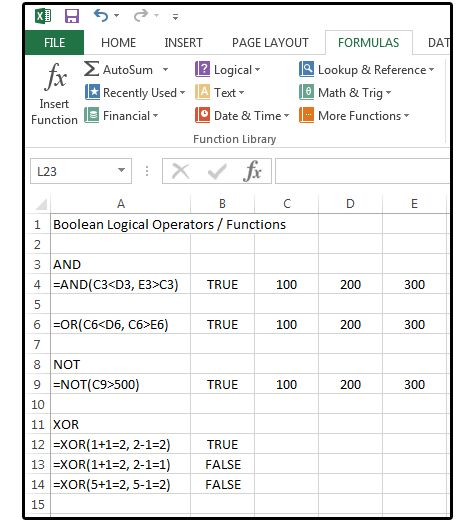 how to create boolean column in excel
