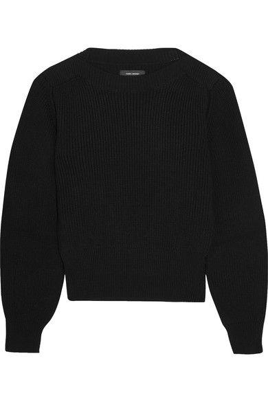 Isabel Marant - Fidji Ribbed Cotton-blend Sweater - Black - FR