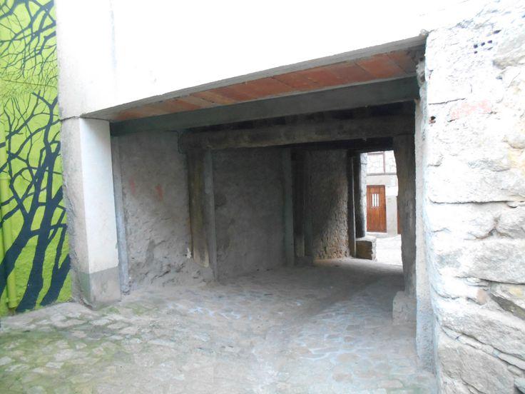 Villanueva del Conde. Callejina entre huertas y Calle Larga