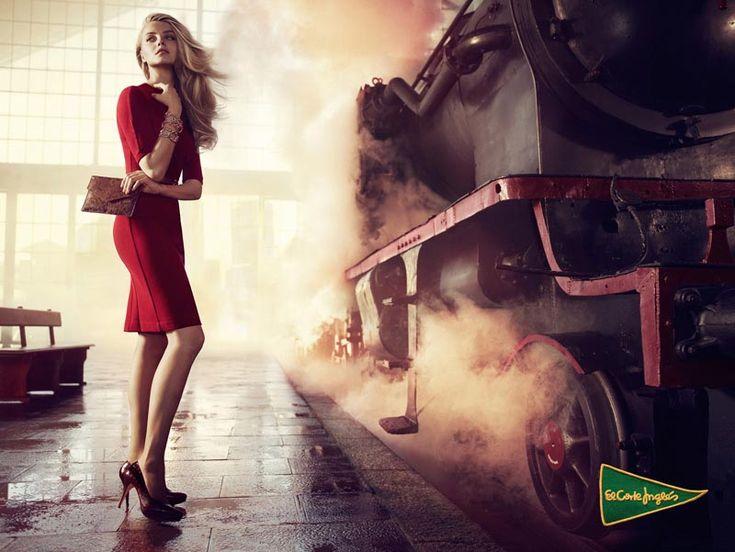 Anna Jagodzinska Stars in El Corte Ingles' Fall 2012 Campaign by Hunter & Gatti