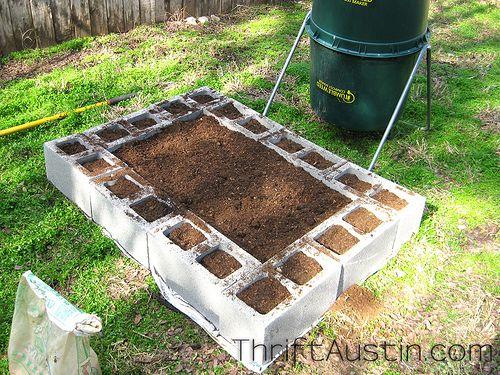 cinder block garden :)
