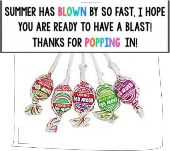Teach Junkie: 31 creative back to school treats for students {printables}