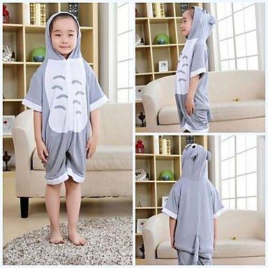 Kids Gray Totoro Modal Kigurumi Pajamas For Summer