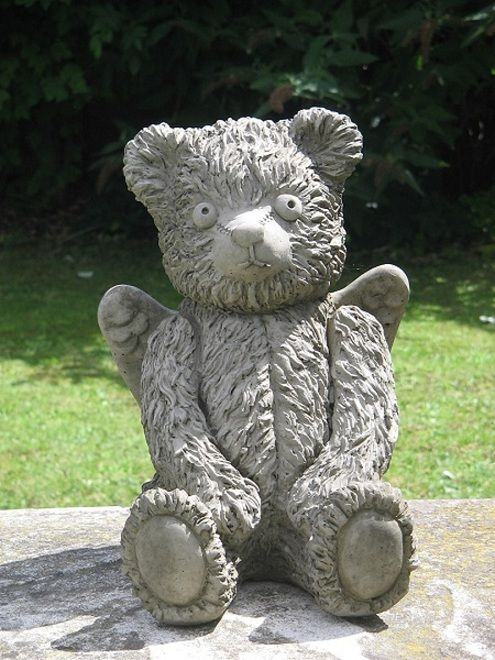 Awesome Angel Teddy Bear Garden Statue