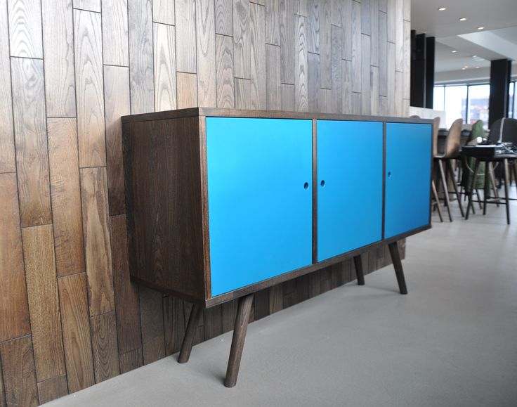 Sideboard in smoked oak and painted doors. This was to the Michelin restaurant Studio in Copenhagen. #inspiration #restaurant http://www.kjeldtoft.com/