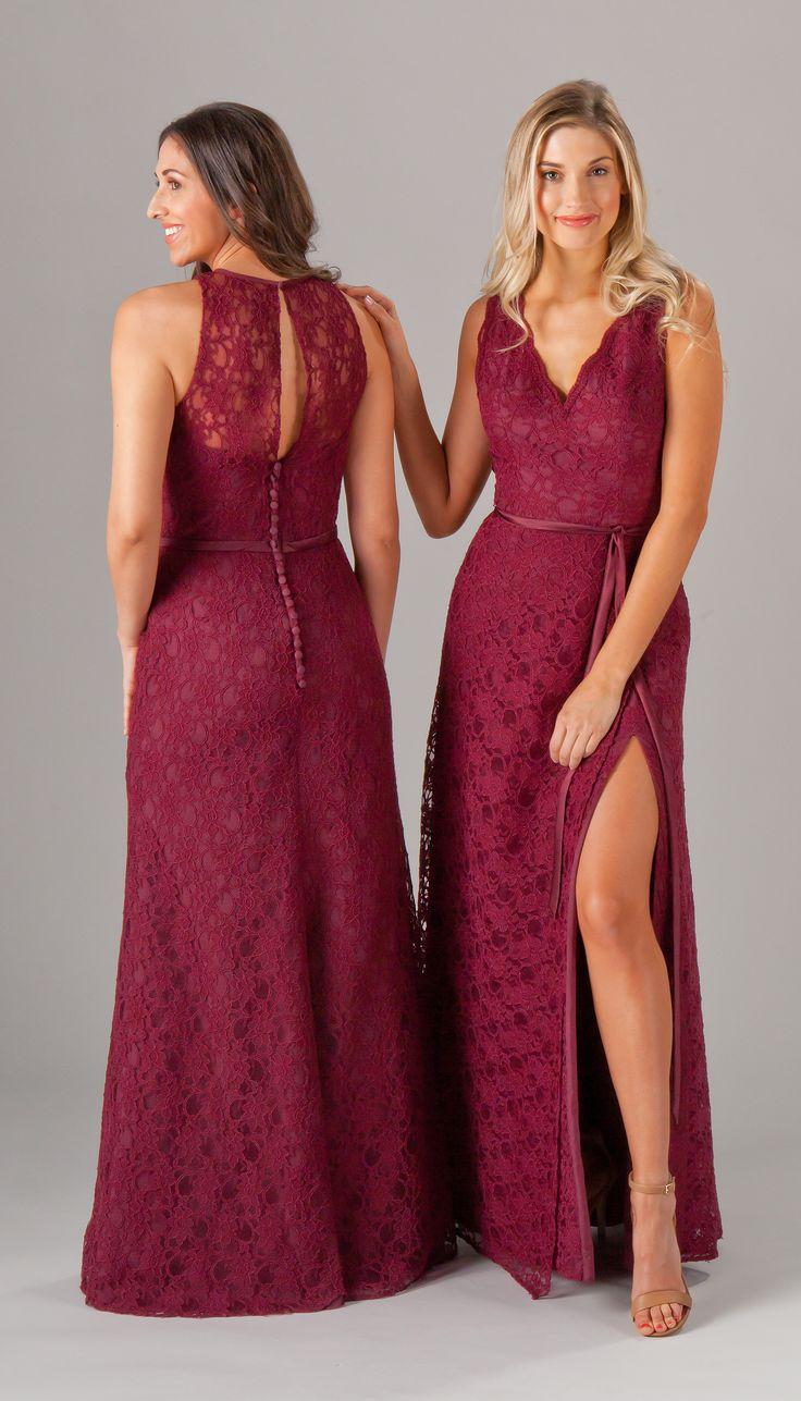 Best 25 long lace bridesmaid dresses ideas on pinterest eleanor deep red weddingred ombrellifo Choice Image