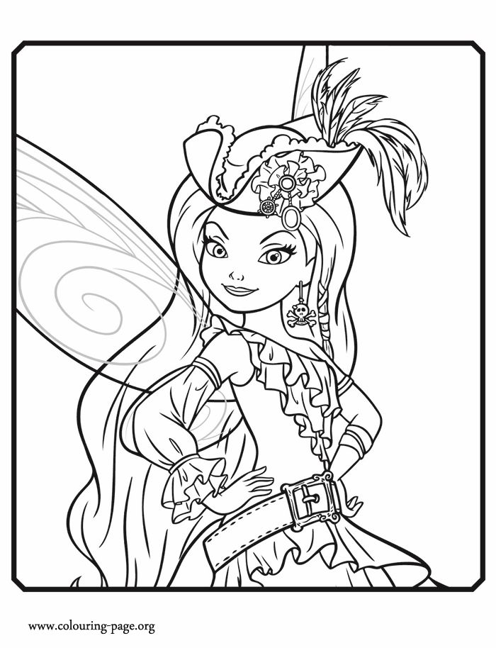 Printable Disneys The Tinkerbell Pirate Fairy Coloring Pages Picture Free For Kids