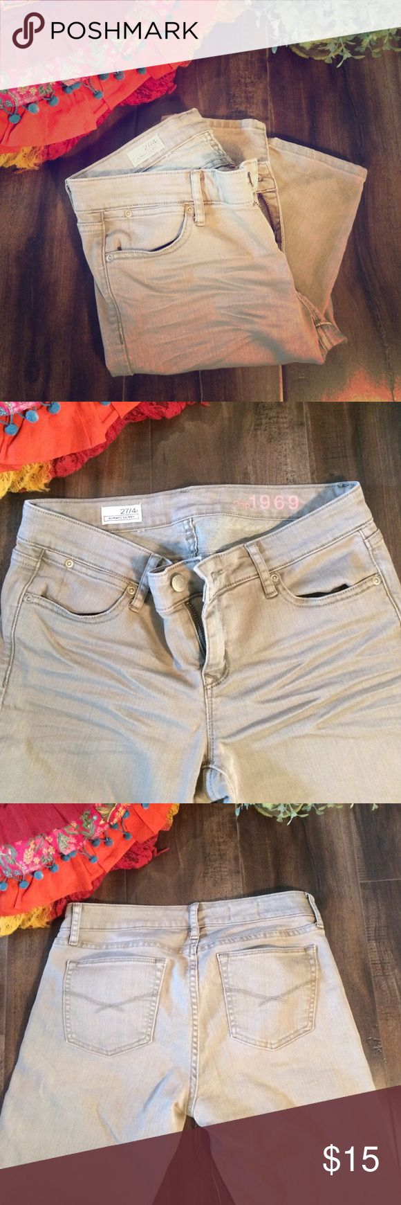 Gap Always Skinny tan jeans Gap size 27/4R Always skinny 1969 tan jeans. Ankle length. Excellent condition. Only worn once or twice. GAP Jeans Skinny