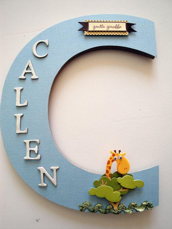 Giraffe Nursery Wall Letter Nursery Wall by BearySpecialScrappin, $22.99