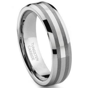 6MM Tungsten Carbide 14K White Gold Inlay Wedding Band Ring Sz 8.5 SN#110 (Jewelry)  http://balanceddiet.me.uk/lushstuff.php?p=B001EPGULI  B001EPGULI