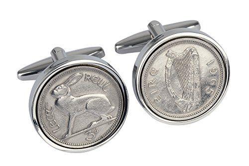 50th Birthday Gift -1965 Irish Coin Cufflinks-Genuine 1965 Ireland Threepence Cufflinks birthdaycufflinks http://www.amazon.co.uk/dp/B00IL7SXXA/ref=cm_sw_r_pi_dp_WuD-ub1YP6PPB