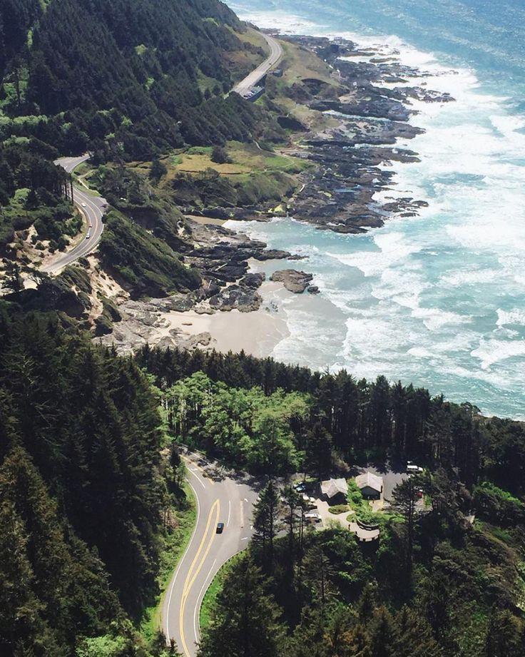 "10k Likes, 68 Comments - Pacific Northwest Wonderland (@pnwonderland) on Instagram: ""Looking down on the beautiful Oregon Coast. Photo by @oceanelle #pnwonderland"""