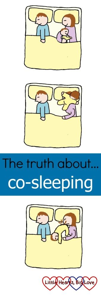 Co-sleeping - the dream vs the reality.  10 sleeping positions that really show what co-sleeping is like