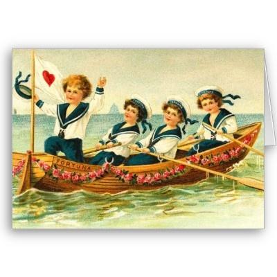 Retro Victorian Valentines Day Card Victorian
