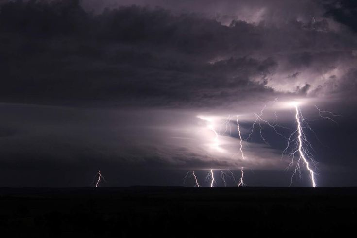 Thunderstorms over the Darling Downs between Millmerran and Inglewood on the night of December 7, 2014. Photo from South Brisbane Storms chaser Andy Barber.