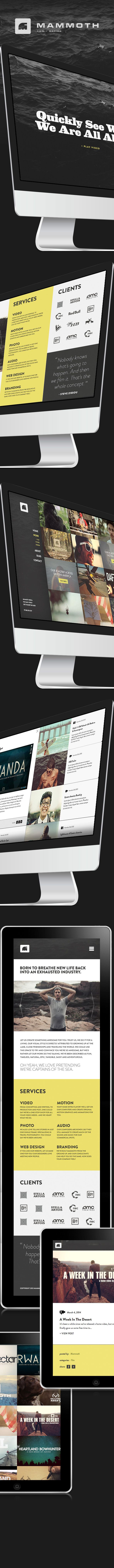 Mammoth Media Redesign by Christopher Wilson, via Behance