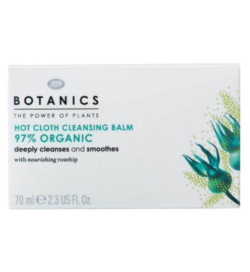Botanics Organic Hot Cloth Cleansing Balm.