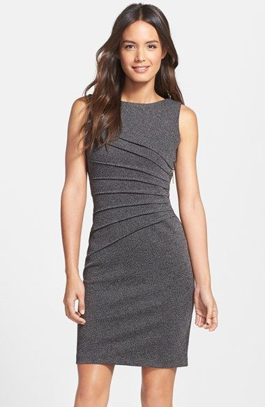 Ivanka Trump Pleated Sheath Dress #Nordstrom Have this in cerise and love it