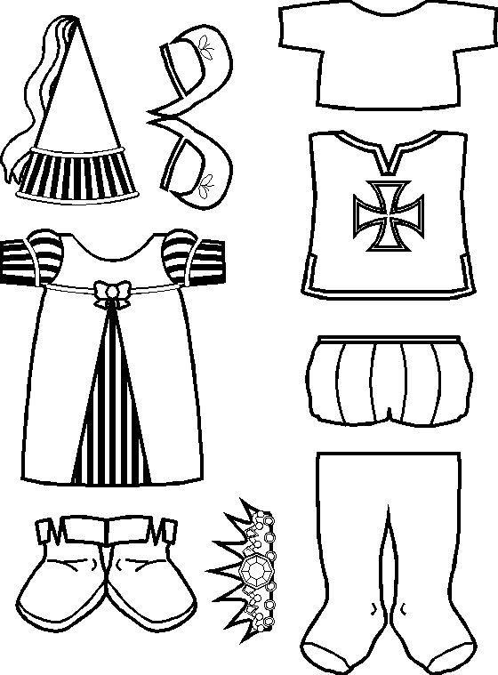 paper doll Medieval Friends clothes for Whipping Boy activity