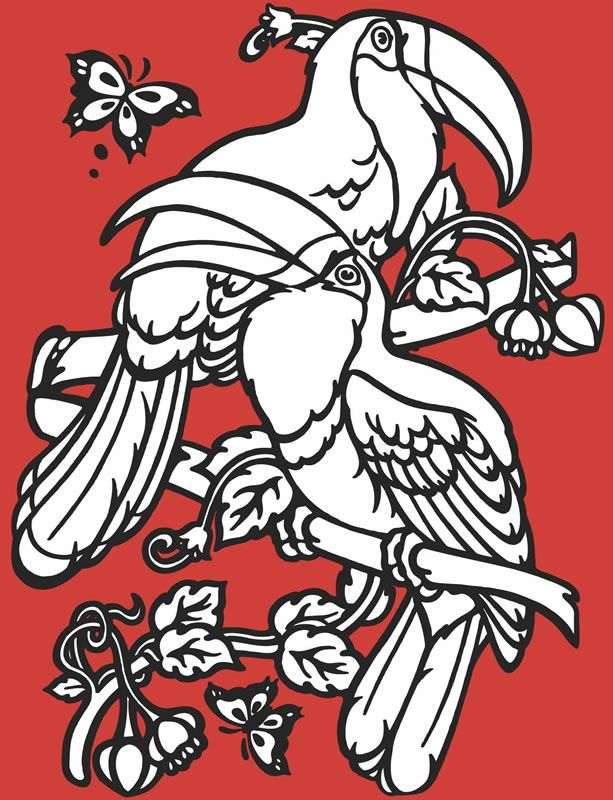 Welcome to Dover Publications - sample -Birds Gem Glow Stained Glass Coloring Book-