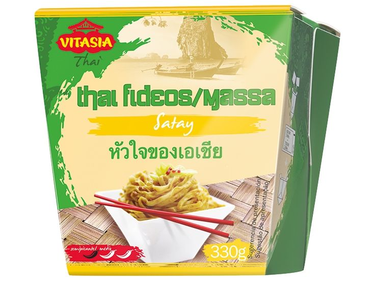 Cuatro variedades:           - Con salsa Pad Thai, medio picante.           - Con Satay de cacahuete, medio picante.           - Con salsa agridulce, suave.           - Con salsa curry verde, picante.