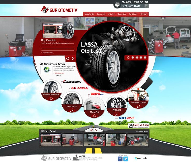 otomotiv web tasarım - auto web design - creative