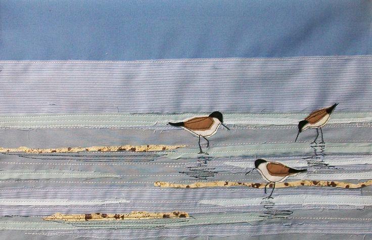Seaside  textile art
