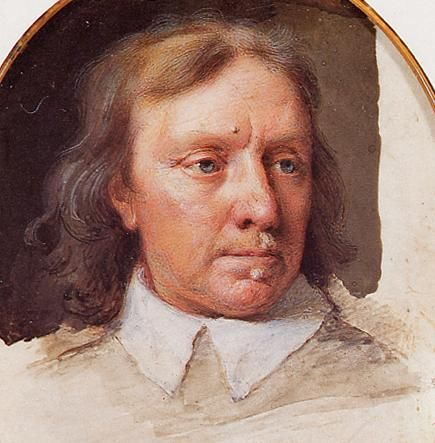 """the famous """"warts and all"""" portrait of Oliver Cromwell"""