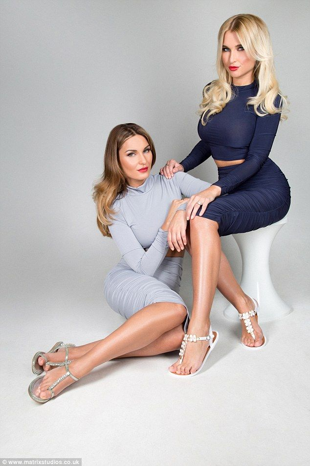 Sam and Billie Faiers showcase their enviably long legs modelling their debut footwear range.   Gold Class from top-to-toe!  Sam & Billie's hair extensions by Inanch Emir using Gold Class Hair Extensions.  Styled by Mark Hayhurst.