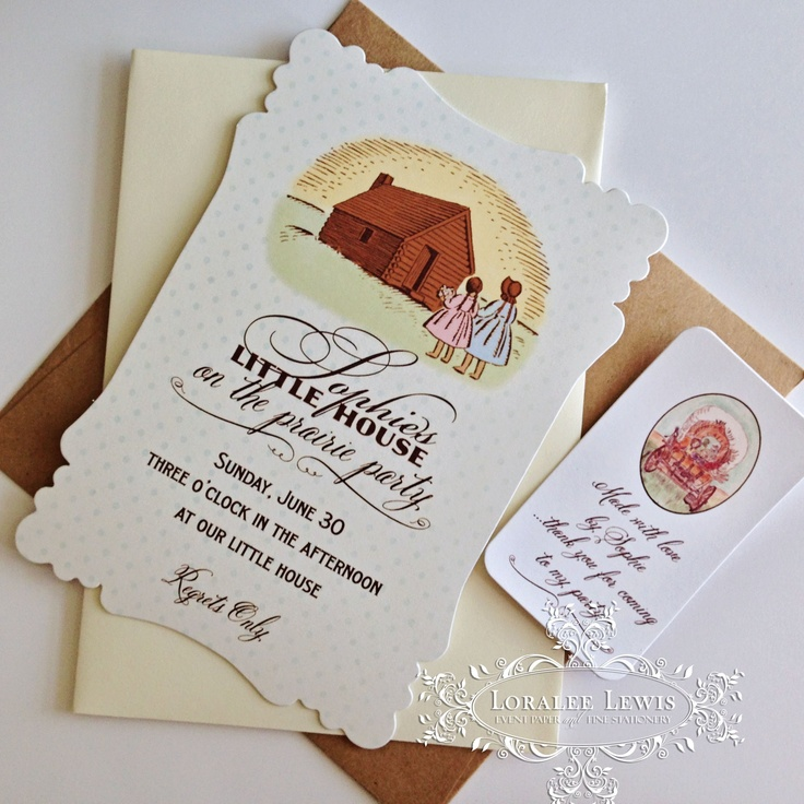 Little House on the Prairie Invitations and Favor Tags from www.loraleelewis.com starting at $1.95. #frontierparty #littlehouseontheprairie #birthday #bday #party #instabday #bestoftheday #birthdaycake #cake #friends #celebrate #photooftheday #instagood #happy #young #happybirthday #instabirthday #family
