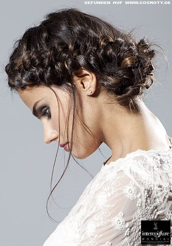 romantic look - updo with braids