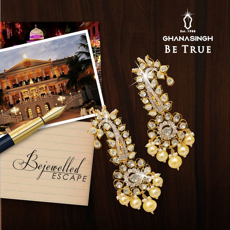 When all you want to do is escape from the regular yet 'Be True' at a special occasion, then Bejewelled Escape Collection is especially crafted for you! #wedding #jewellery