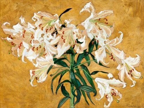 Albert Edelfelt - Lillies (1894) Finnish artist